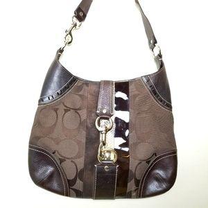 Coach 10260 Chocolate brown hobo bag